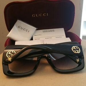 91a8531da8 Authentic Tortoise crystal GG0083S Gucci Sunglass Authentic Oversized Gucci  Sunglasses 100% Women ...